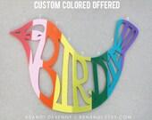 Acrylic Birdie Wall Hanging // Customizable Color Choice