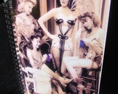 Knitter's Journal - KNIT GLAMOUR Vintage Hollywood 1942 - Spiralbound Notebook