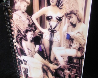 Knitter's Journal - KNIT GLAMOUR Vintage Hollywood 1942 - Spiralbound Notebook