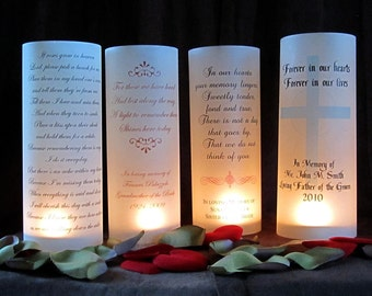 Illuminated Memorial Lantern Wraps- just add candles-qty 10
