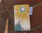 SOMP Phone Gadget Sleeve in Anemone and Happy Dots, size small
