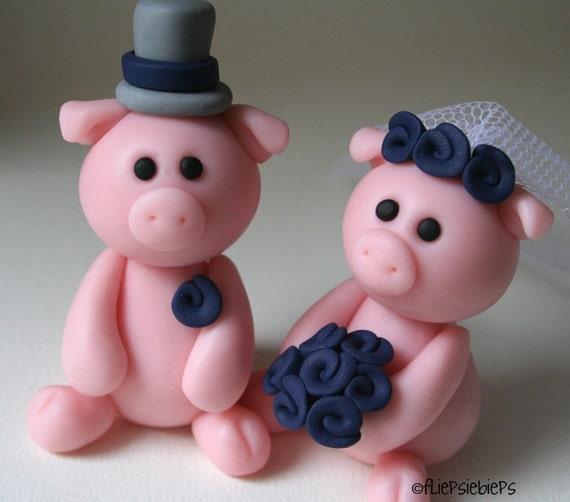 Custom Piggy Wedding Cake Topper