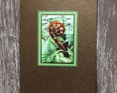 Fern Metallic Handmade Card