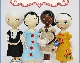 Pretty Ditty Peg Doll Kit - Clothespin Doll Kit