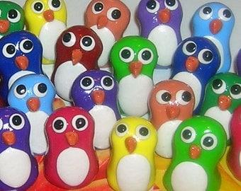 Rainbow Super Mini Penguin - Set of 10