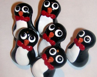 Bowtie Mini Penguins - Set of 6