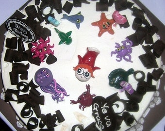 Custom Cake Toppers // Birthday or Special Occasion - 9pc Set