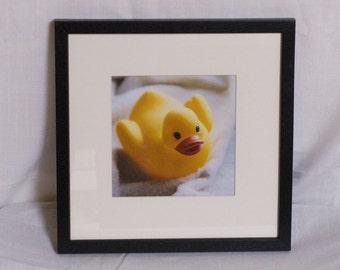 Rubber Ducky Duck Framed print, 12x12