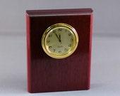 Purpleheart Mini-Clock