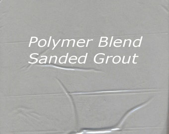 Classic DELOREAN GRAY 2 Pounds Mosaic Tile Grout Sanded Polymer Fortified for Home Projects - Just Add Water