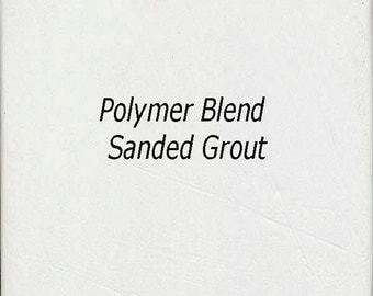 Bright WHITE 1 Pound Mosaic Tile Grout Sanded Polymer Fortified for Home Projects - Just Add Water