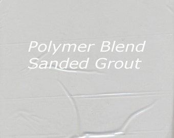 Soft SILVER GRAY 1 Pound Mosaic Tile Grout Sanded Polymer Fortified for Home Projects - Just Add Water