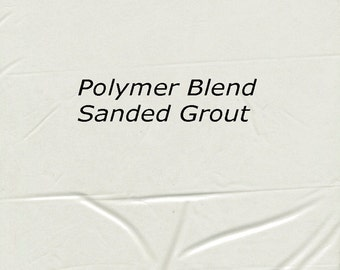 Light GRAY MIST 1 Pound Mosaic Tile Grout Sanded Polymer Fortified for Home Projects - Just Add Water