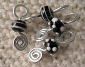 Night and Day - Knitting Stitch Markers- Set of 4 - Fits up to Size 10 Needle