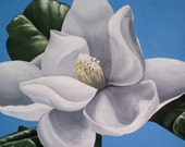 REDUCED Magnolia Blossom Painting