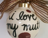 Reserved for tstorme Customized I Love My Mutt Ornament