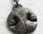 CUSTOM Pet Nose Print Necklace in Fine Silver