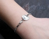 Fingerprint Bracelet in Fine Silver - 3mm Rollo Bracelet Chain
