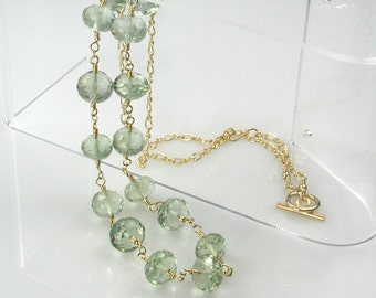 Green Amethyst Necklace Prasiolite