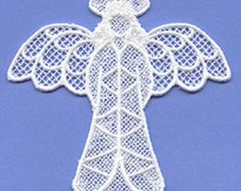 2D Free Standing Lace Angel Ornament
