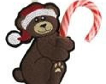 Hungry Bear Candy Cane or Pencil Holder Ornament