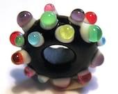 DISCO  Pandora style Lampwork funky bead