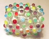 handmade lampwork glass focal bead by GlasSmile colorful colors