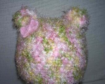 Custom Toddler Teddy Bear Hat w/bow - Aberrant Crochet Designs