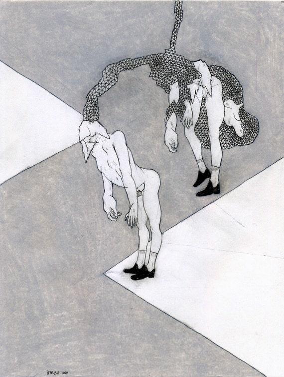 SALE! Emotional (original drawing, 2011)