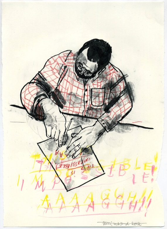 This is Impossible (original drawing, 2012)
