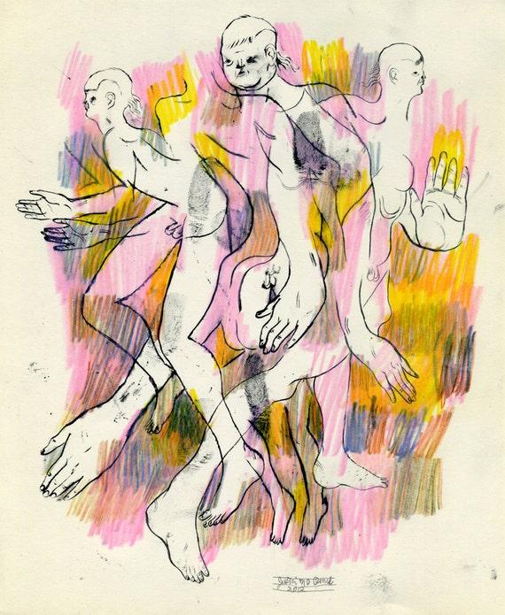 Happening at Once (original drawing, 2012)