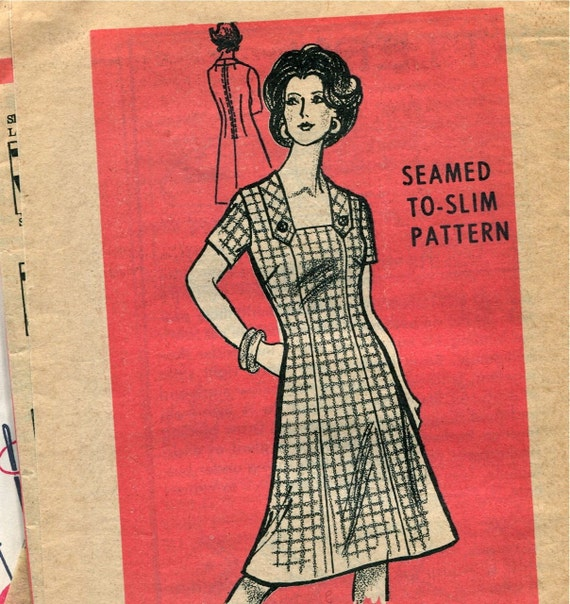 custom dress from a vintage 1950s 1960s pattern any size plus