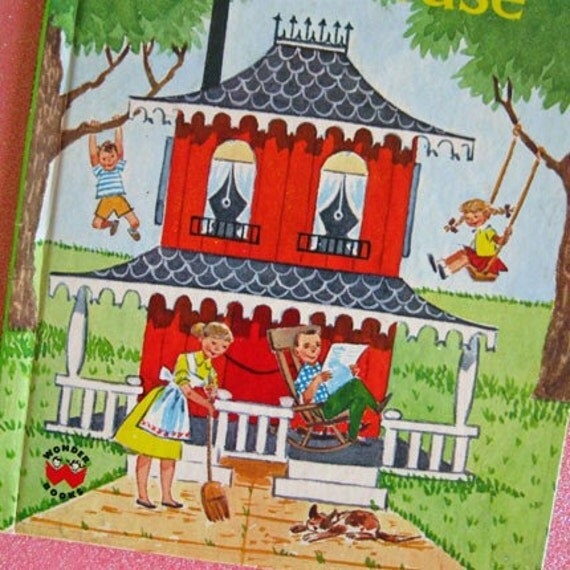 1974 Vintage Childrens Book Once There Was a House