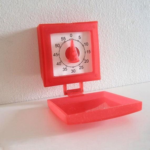 Vintage Red Kitchen Timer
