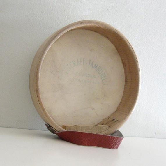 1960s Vintage Tambourine Drum Toy Sportcraft Tamburelli