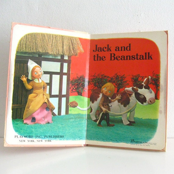 Vintage Children's Puppet Picture Book Jack and the Beanstalk