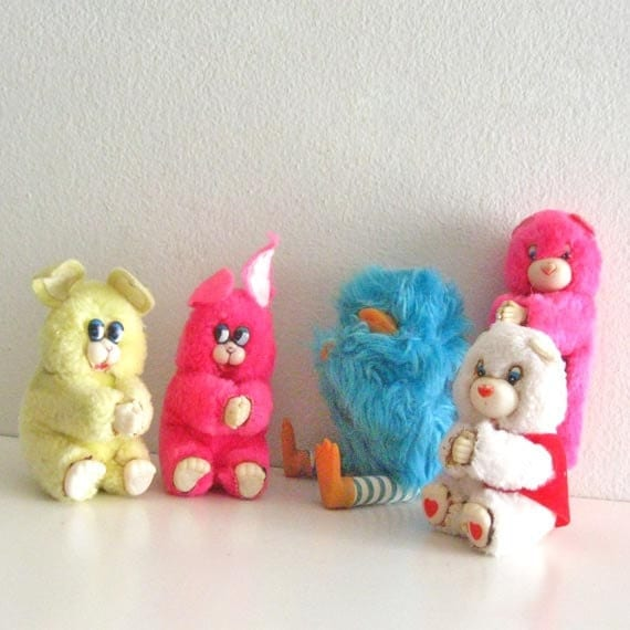 Soft Toys Clip Art : Vintage clip on plush toys