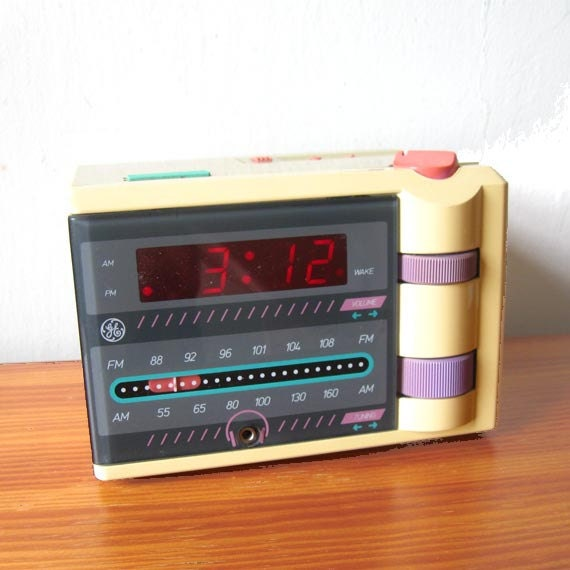 vintage radio alarm clock 1980s p 39 jammer ge general. Black Bedroom Furniture Sets. Home Design Ideas
