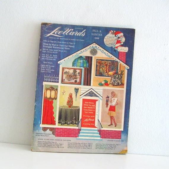 Vintage Lee Wards Christmas Catalog Craft Supplies 1960s