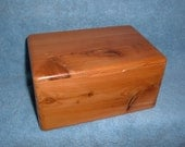 Handsome cedar box