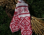 Scandinavia mitten PATTERN - 2 languages, English and Norwegian