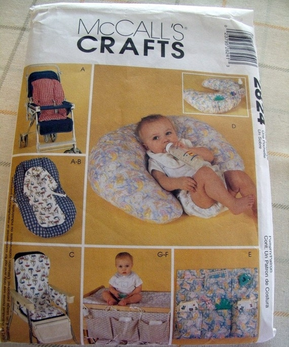 mccalls crafts 2824 baby high chair cover stroller by spwraps. Black Bedroom Furniture Sets. Home Design Ideas