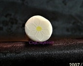 ClayCrazy - polymer clay - white outlined ghost flower cane