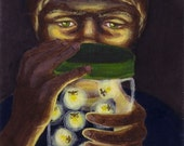 RESERVED FOR czymonky Glow of the Fireflies original painting