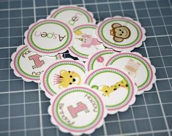 ZOO GIRL Table Confetti / Zoo party table confetti / zoo party pink confetti / girl zoo confetti / sweet safari confetti / zoo table minis