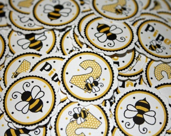 BUMBLEBEE Table Confetti / Bee Confetti / Bee Table Minis / Bee Baby Shower Confetti / Bee Party Circles / Bumble Bee Birthday Confetti