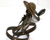 1923 Metal Egg Beater - Vintage A.J. Hand Held Mixer //Still Working