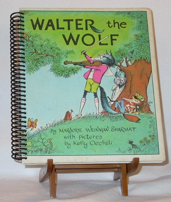 Altered Vintage Walter the Wolf Book Journal / Notebook / Sketchbook / Diary