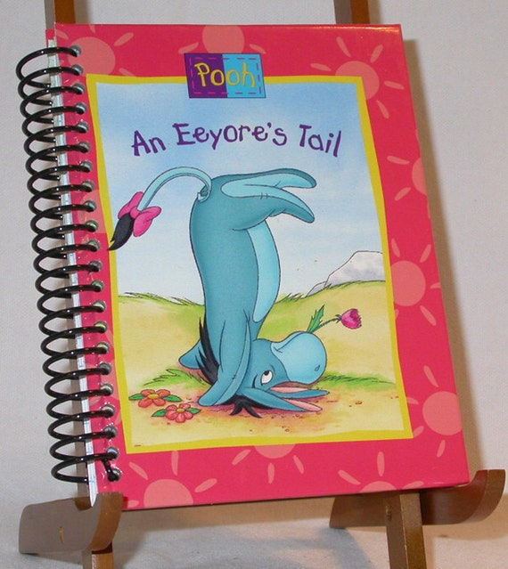 """Altered Childrens Book Journal Winnie the Pooh """"An Eeyores Tail -  Notebook / Diary"""