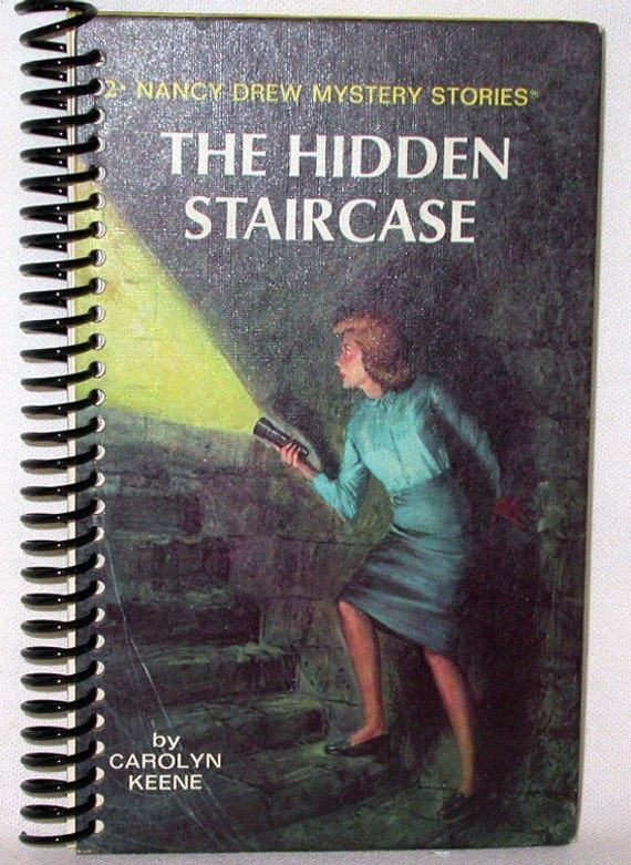 Vintage Altered Book Journal Nancy Drew Mystery Stories The Hidden Staircase - Choose Lined or Blank Paper for Your Notebook or Scrapbook